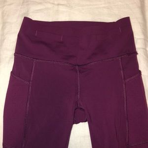 Lululemon purple high rise crop pants